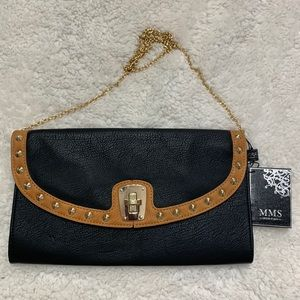 MMS brand Black and Tan studded crossbody